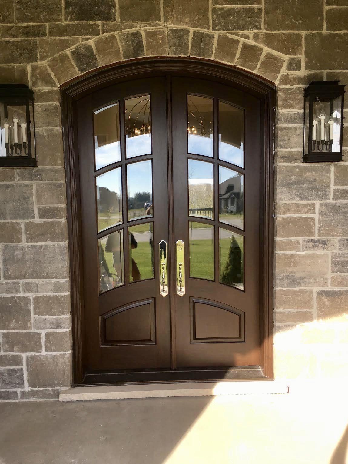 Amberwood Doors Inc: Gorgeous Walnut #Amberwood Custom Exterior Camber Top