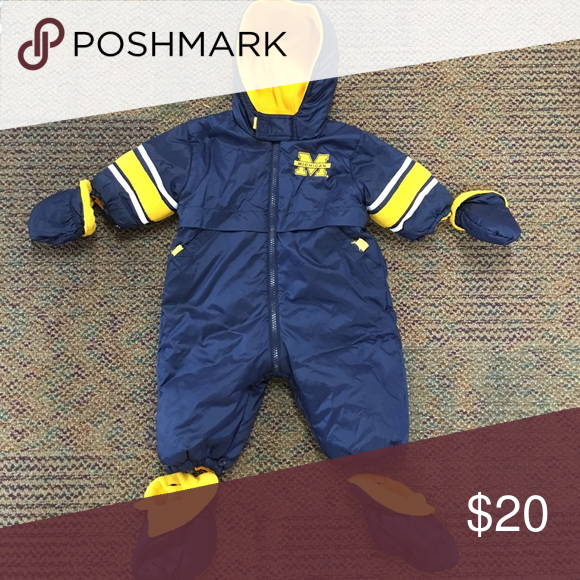 485b55f5e Michigan Reversible Snow Suit U OF M reversible snow suit for 9-12 month old.  Super warm, comes with mittens and footies. Other