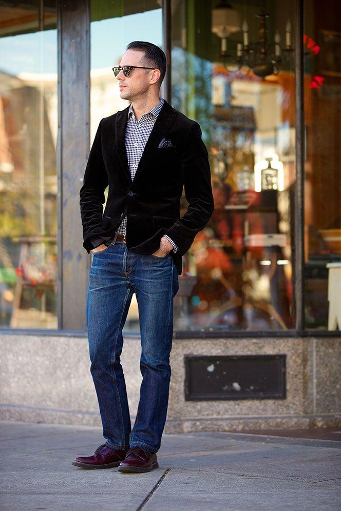 Velvet Blazer Around Town He Spoke Style Business