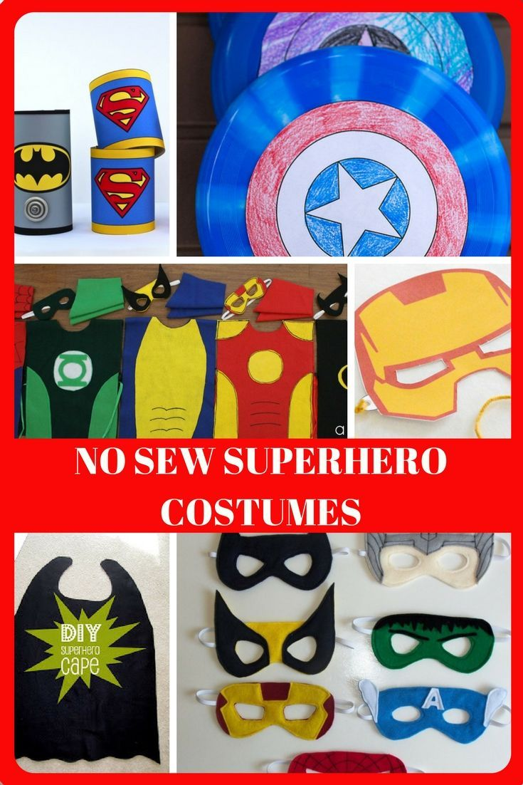 These No Sew Superhero Costume Ideas Will Have Your Little One