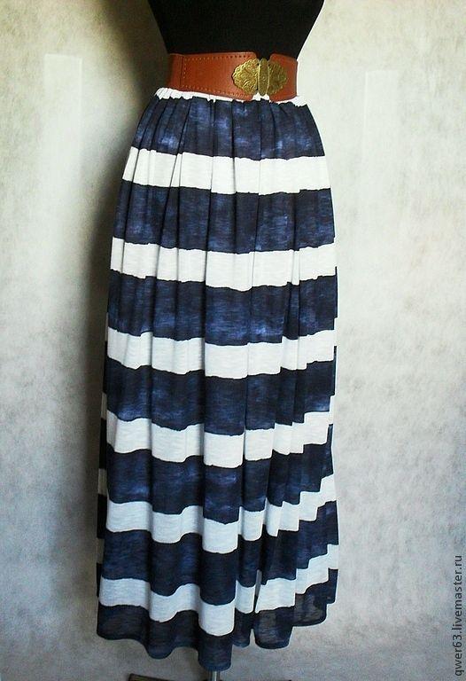 Купить длинную летнюю юбку хлопка