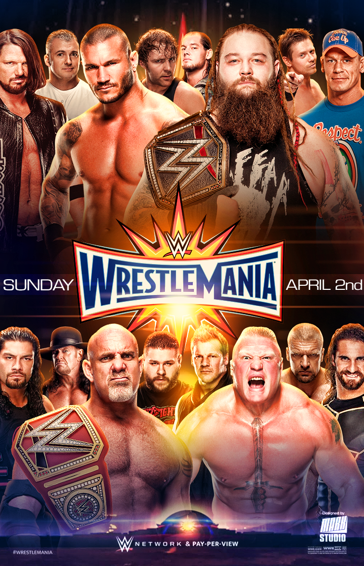 Wwe Wrestlemania 33 Poster V2 By Markstudio2017 Deviantart Com On Deviantart Wrestlemania 33 Wrestlemania Wwe Events