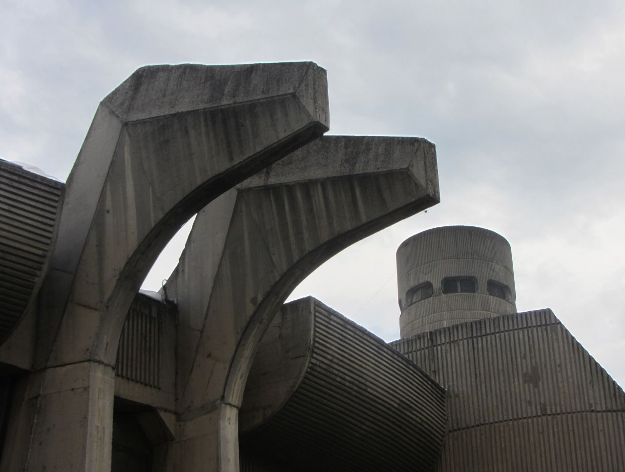 Telecommunications Centre and Post Office, Skopje, Janko Konstantinov, 1974-89. Now THAT'S Brutalism!
