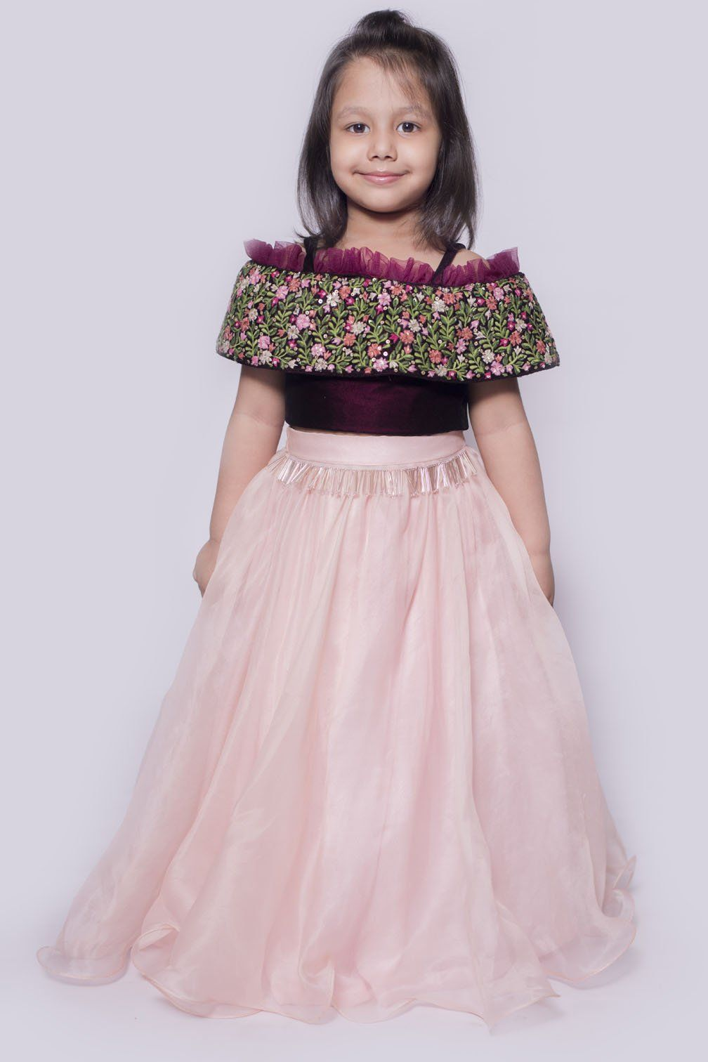 Elegant Lehenga For Princess #disney #princess #pink #kids