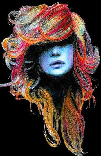 oil pastel colored