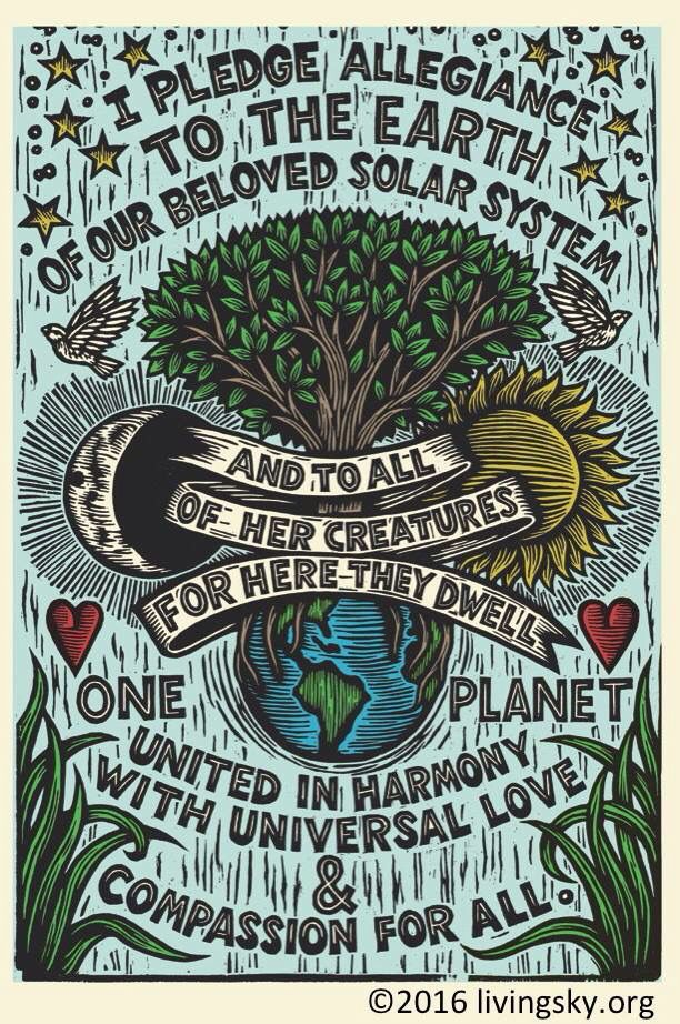 Earth Allegiance From Living Sky Foundation Save Our Earth