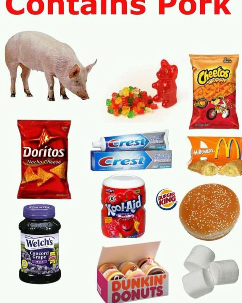 These products contain Pork. Non pork eaters Beware