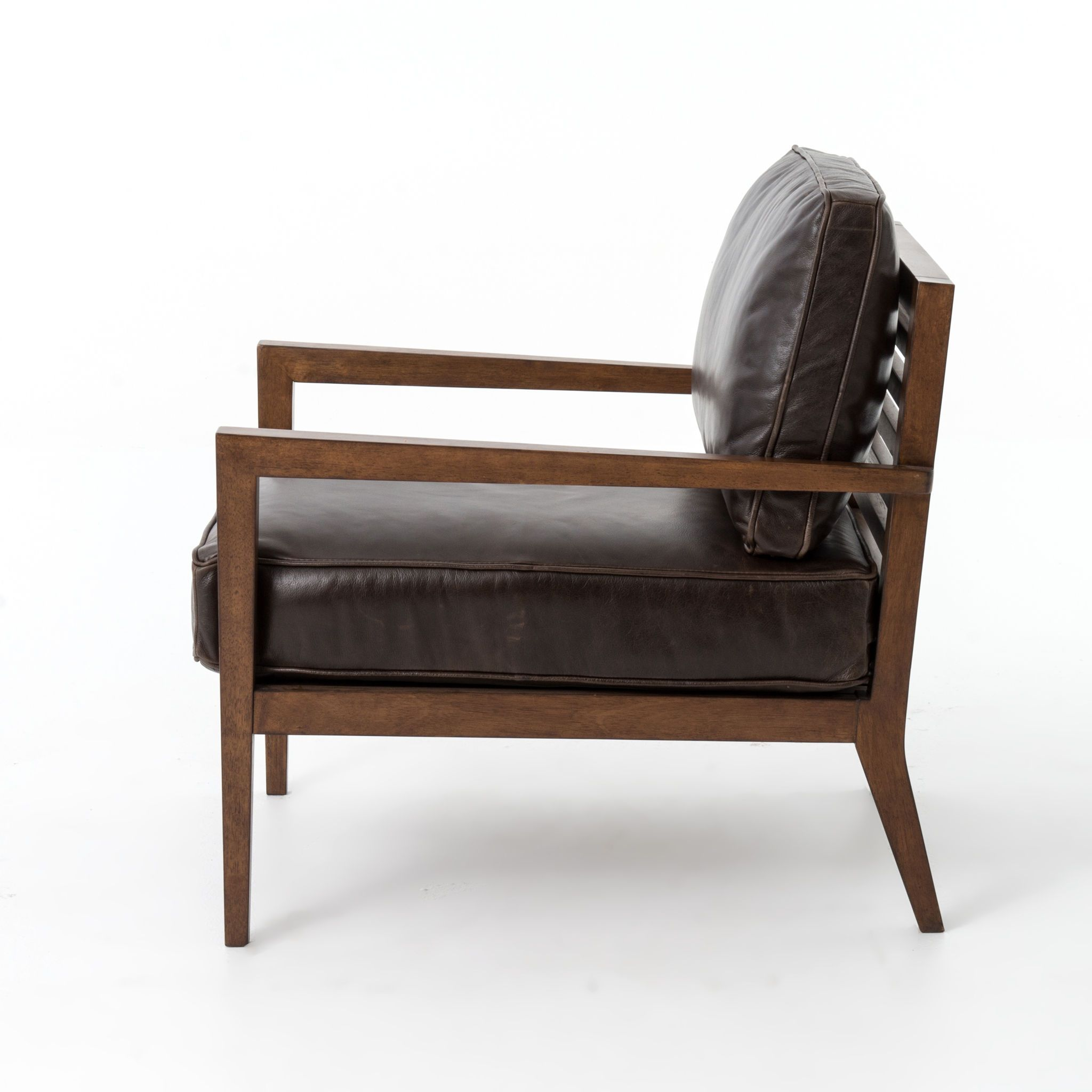 Home Office Laurent Wood Frame Accent Chair-Dk Brn L | PROJECT ...