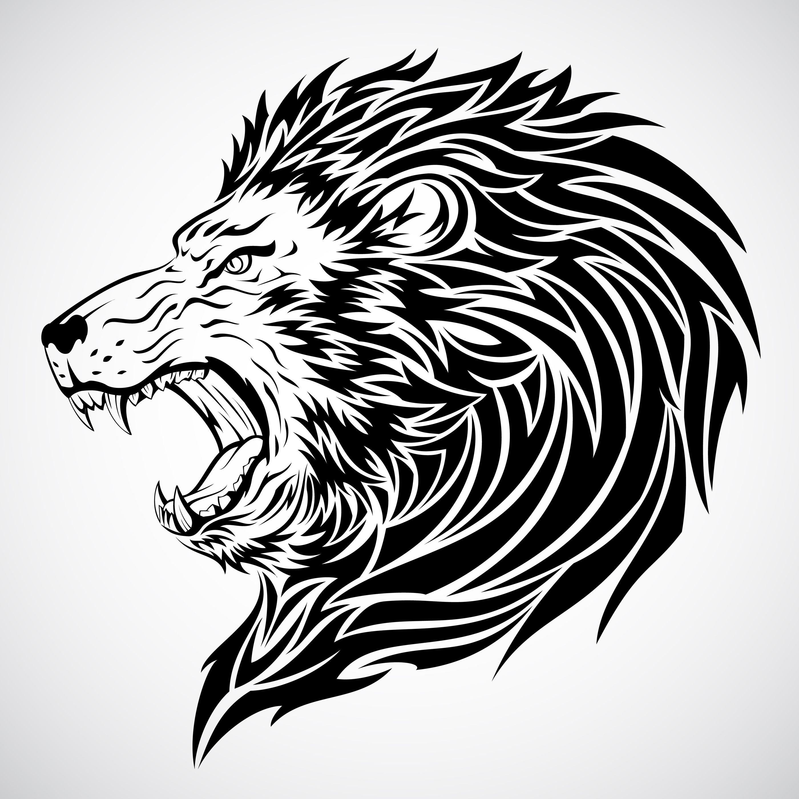 Lion Tribal Head Tattoo Design Tribal Lion Tribal Lion Tattoo Lion Head Tattoos
