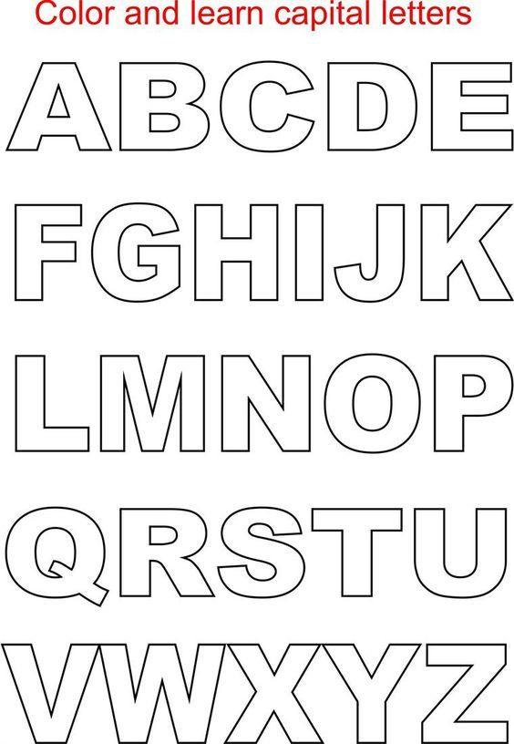 Capital Letters Coloring Printable Page For Kids Alphabets Pages