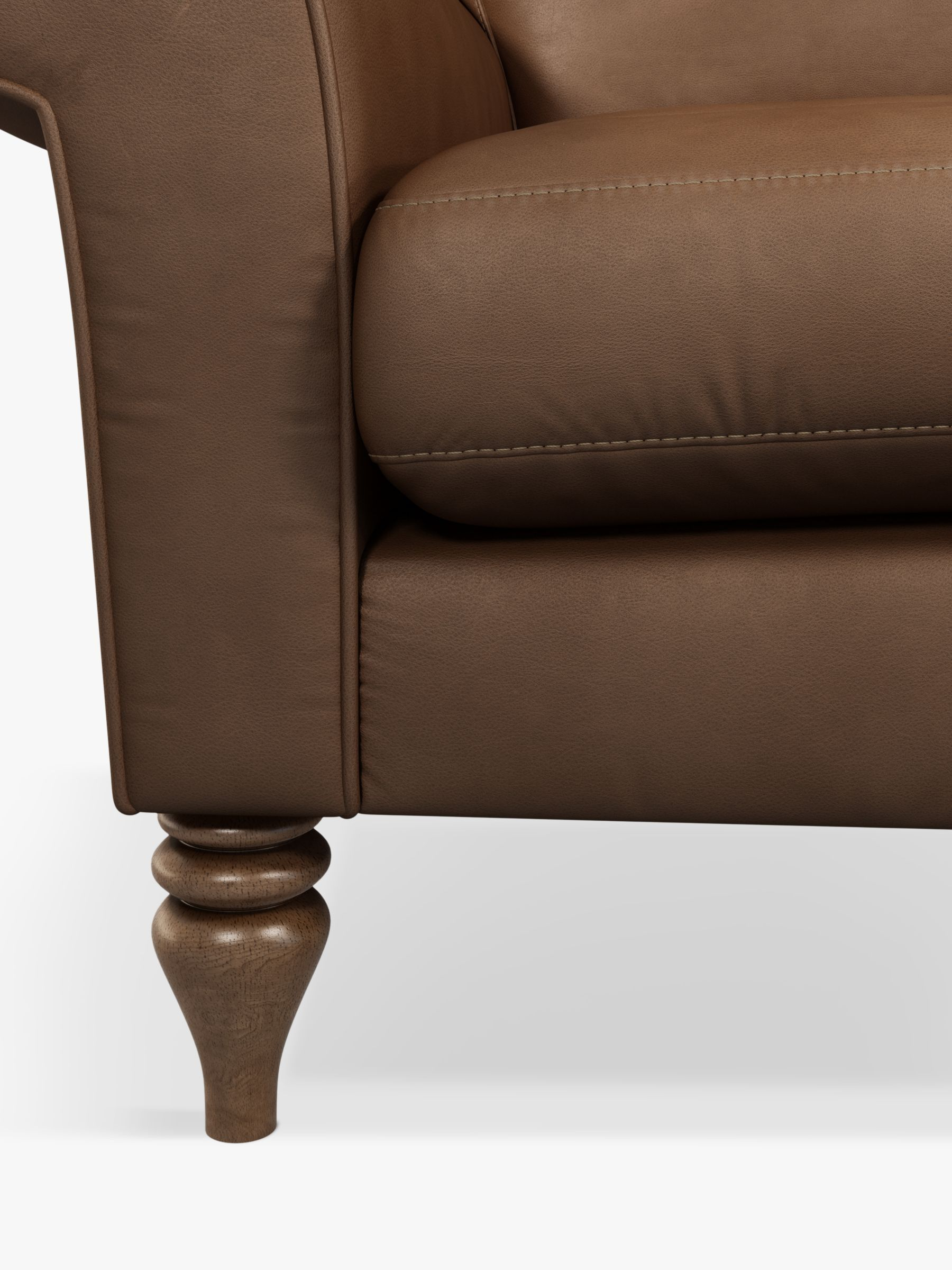 John Lewis Partners Camber Large 3 Seater Leather Sofa Dark Leg In 2020 Leather Sofa 3 Seater Leather Sofa Sofa