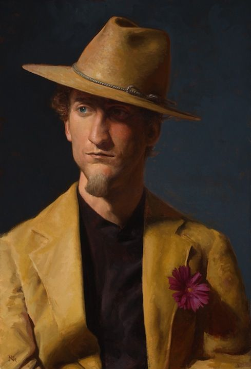 Nicholas Raynolds Man With A Wide Brimmed Hat Oil On Canvas 25 X 17 Www Nicholasraynolds Com Male Portrait Art Male Portrait Portrait