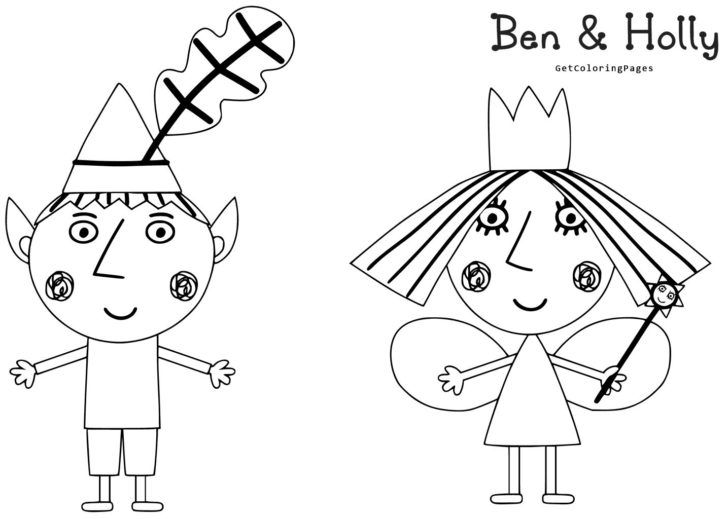 Ben And Holly Colouring Pages | Εκτύπωση | Pinterest