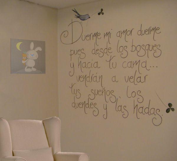 Bonita frase para el cuarto de un ni o cosas - Habitacion para tres ninos ...