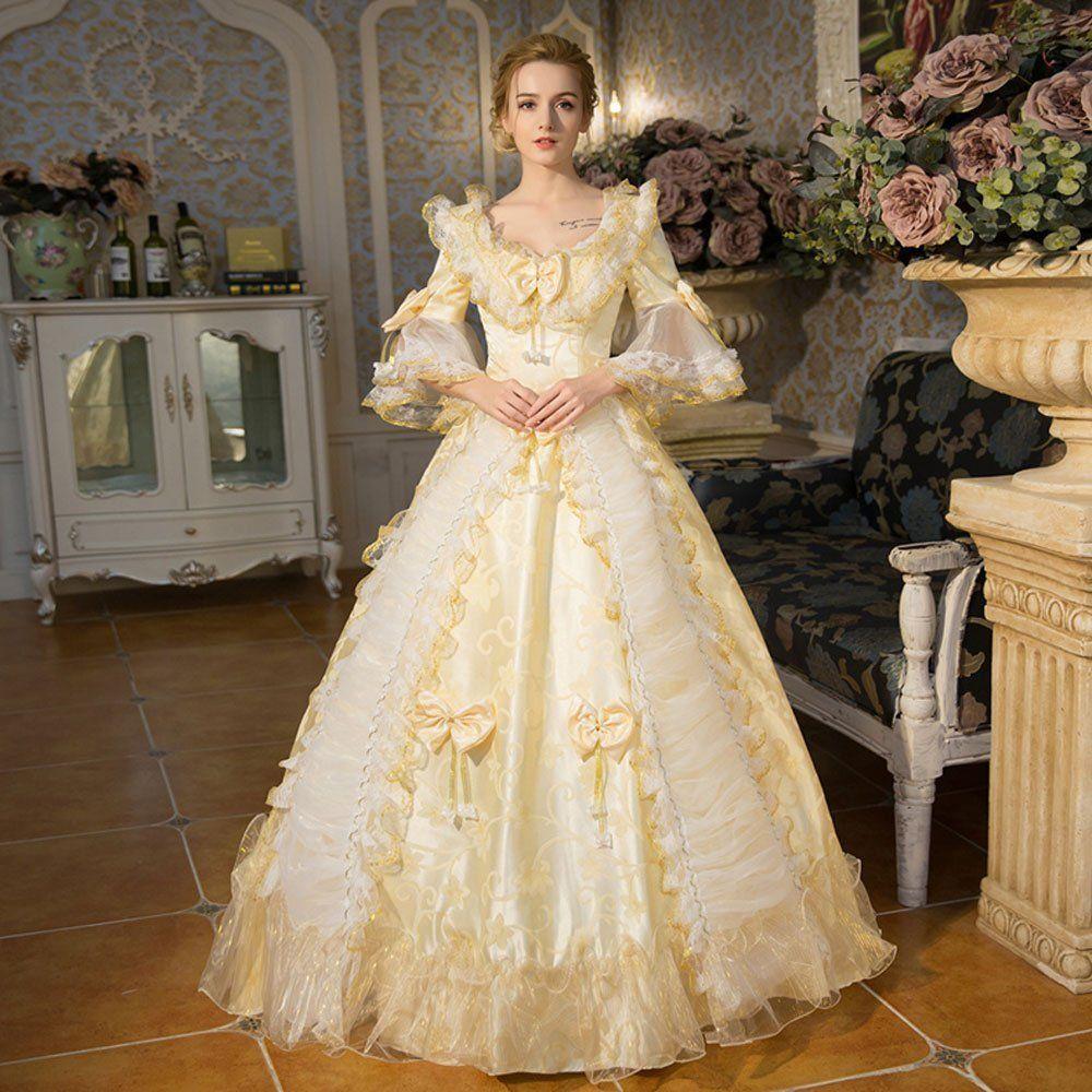 Amazon.com: Zukzi Women\'s Floor Length Victorian Dress Costume ...