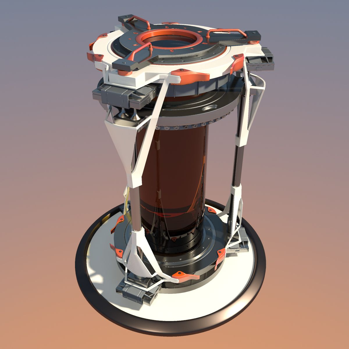 Scifi Biohazard Container 3d Model Cryo Sci Fi Futuristic Biohazard