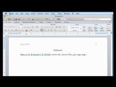 apa format in word 2011 for mac youtube citation style