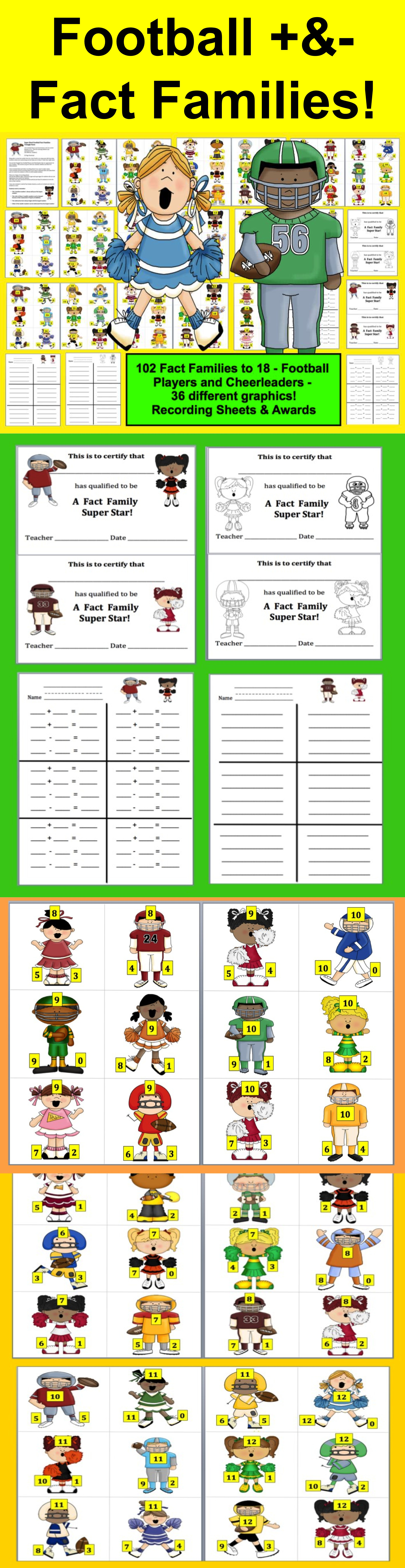 Fact Families For Addition And Subtraction