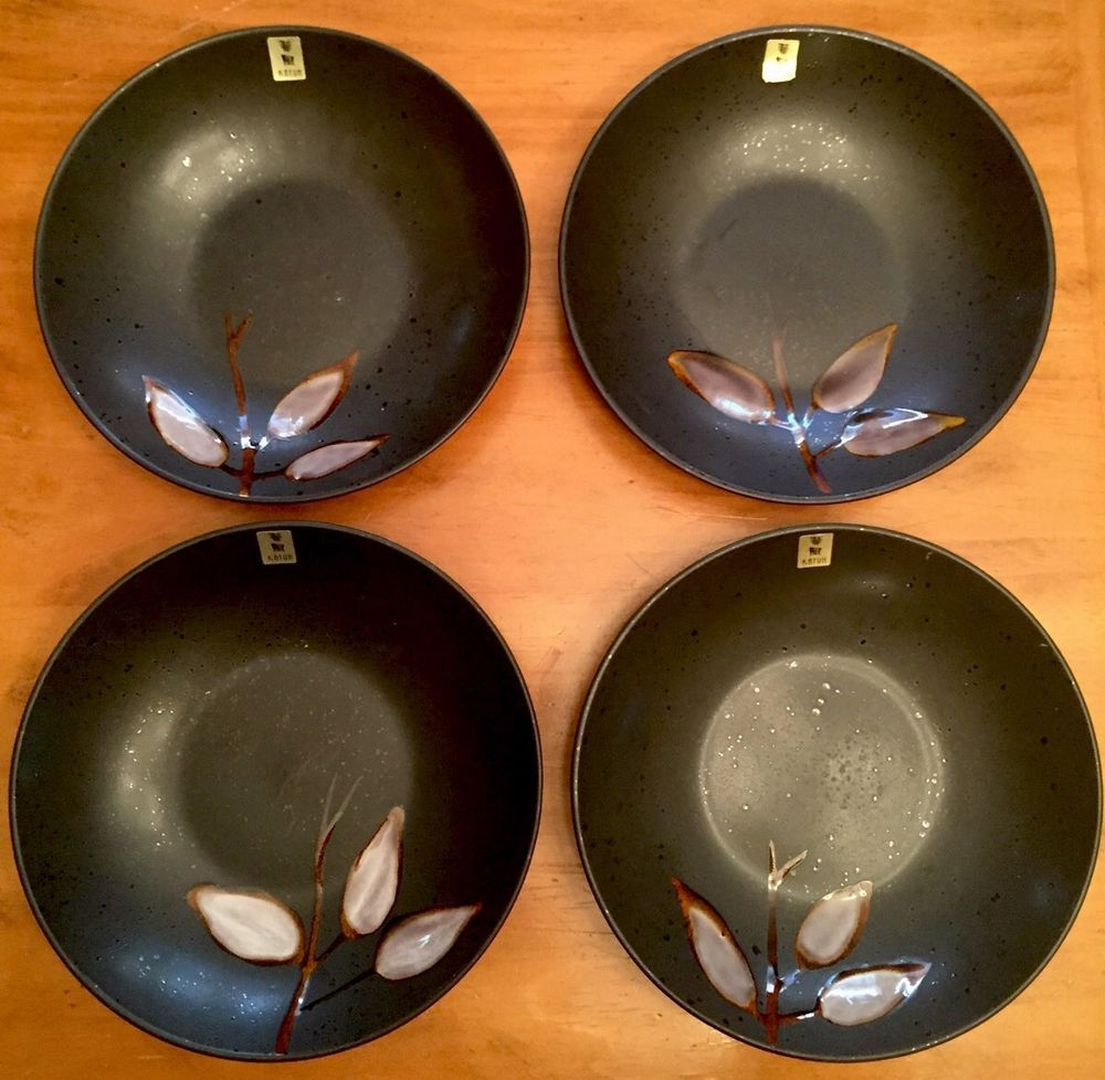 Kafuh Japan 4 stoneware bowls NEW #Kafuh