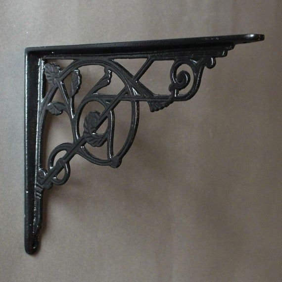 "Set of 8 Medium Simple Arch Cast Iron Shelf Brackets Measures  6/"" x 6/"" Brace"