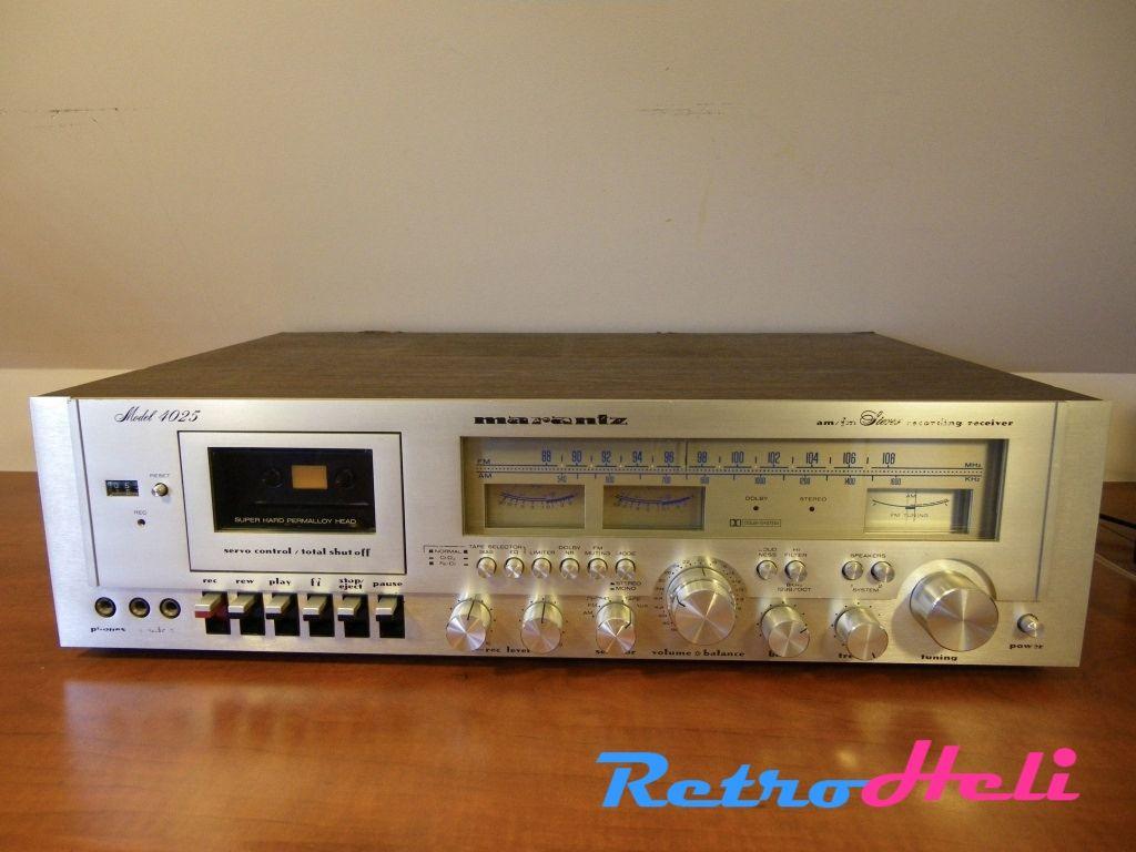 MARANTZ 4025 Receiver Cassettedeck   Vintage Electronics