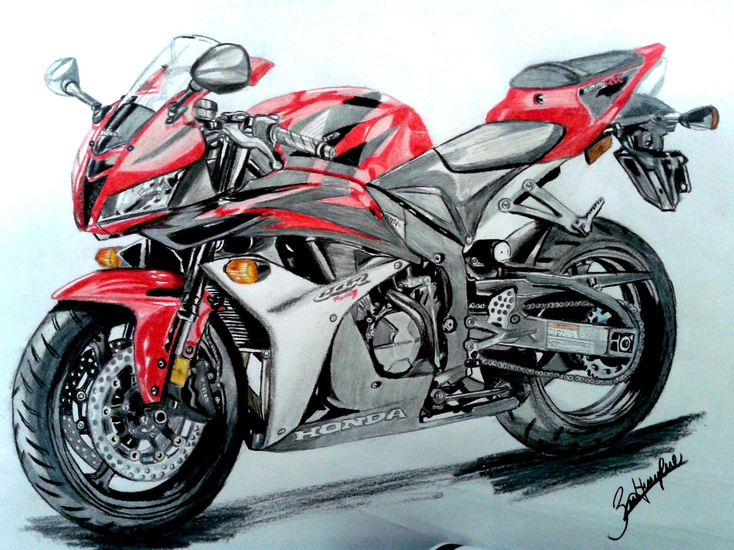 красный мотоцикл картинки рисунки вроде есть, сути