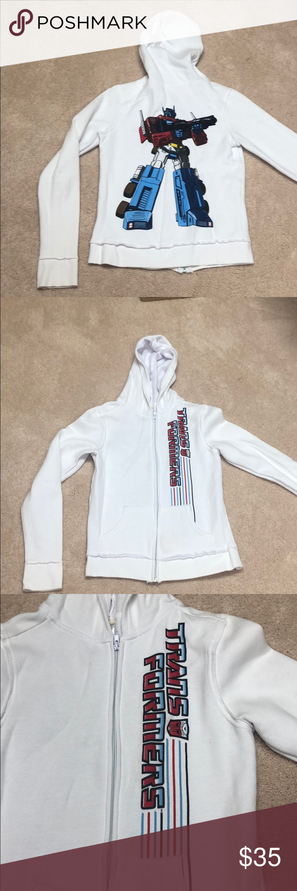 Transformers zip up hoodie