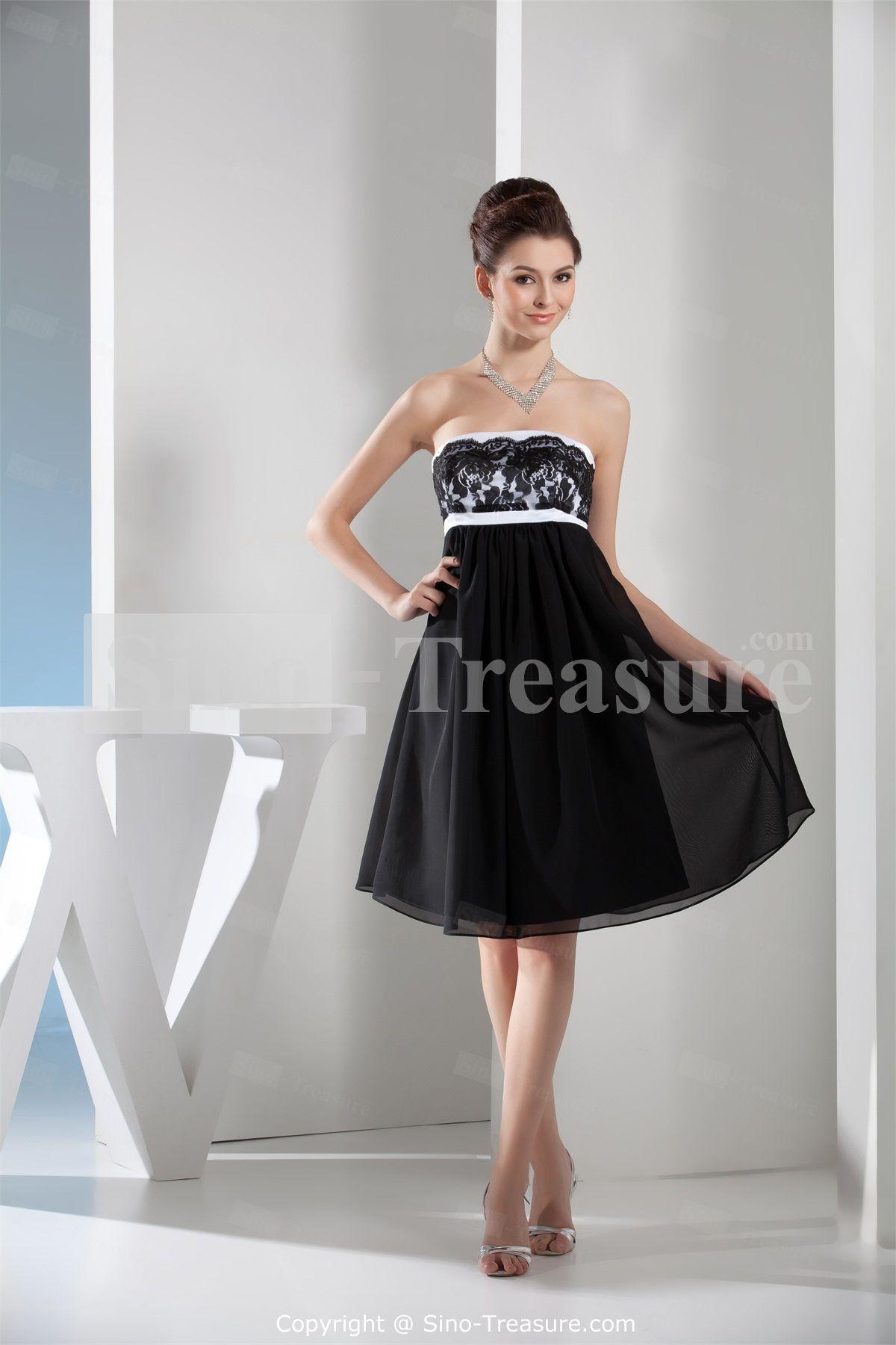 Knee Length Black Bridesmaid Dresses - Ocodea.com