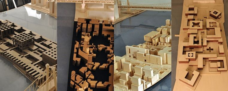 """4 student projects from Cornell studio """"Ungers vs. Rowe"""""""