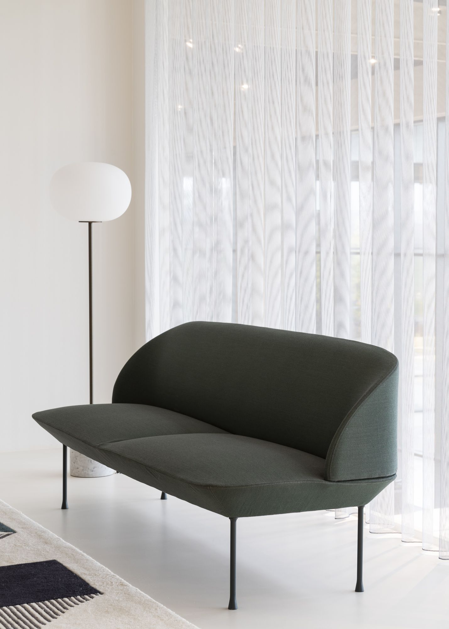 Modern Office Space Inspiration At Ambiente Denmark With Designs From Muuto The Oslo Sofa Family Unites Geometric Lines With A Light Form For The Refined Com In 2020
