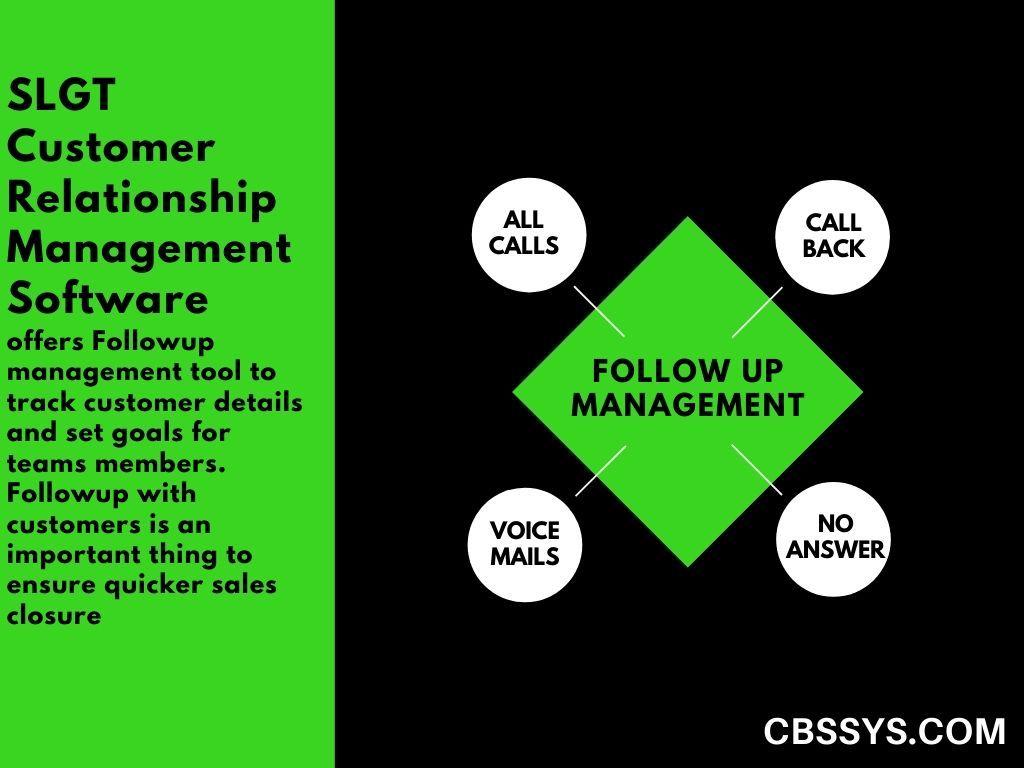 Followup Management Management Tool Management Customer Relationships