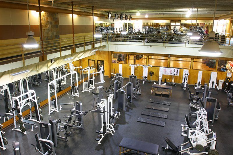Two Story Fitness Center At Calhoun Beach Club Apartments