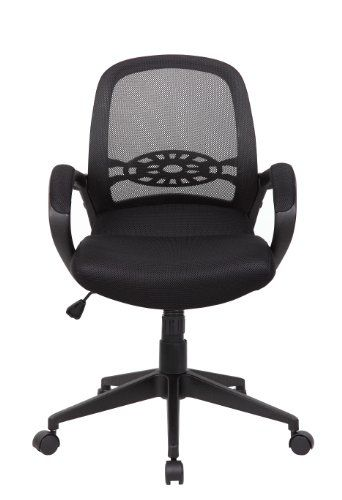 boss office products b6286 spider mesh task chair in black