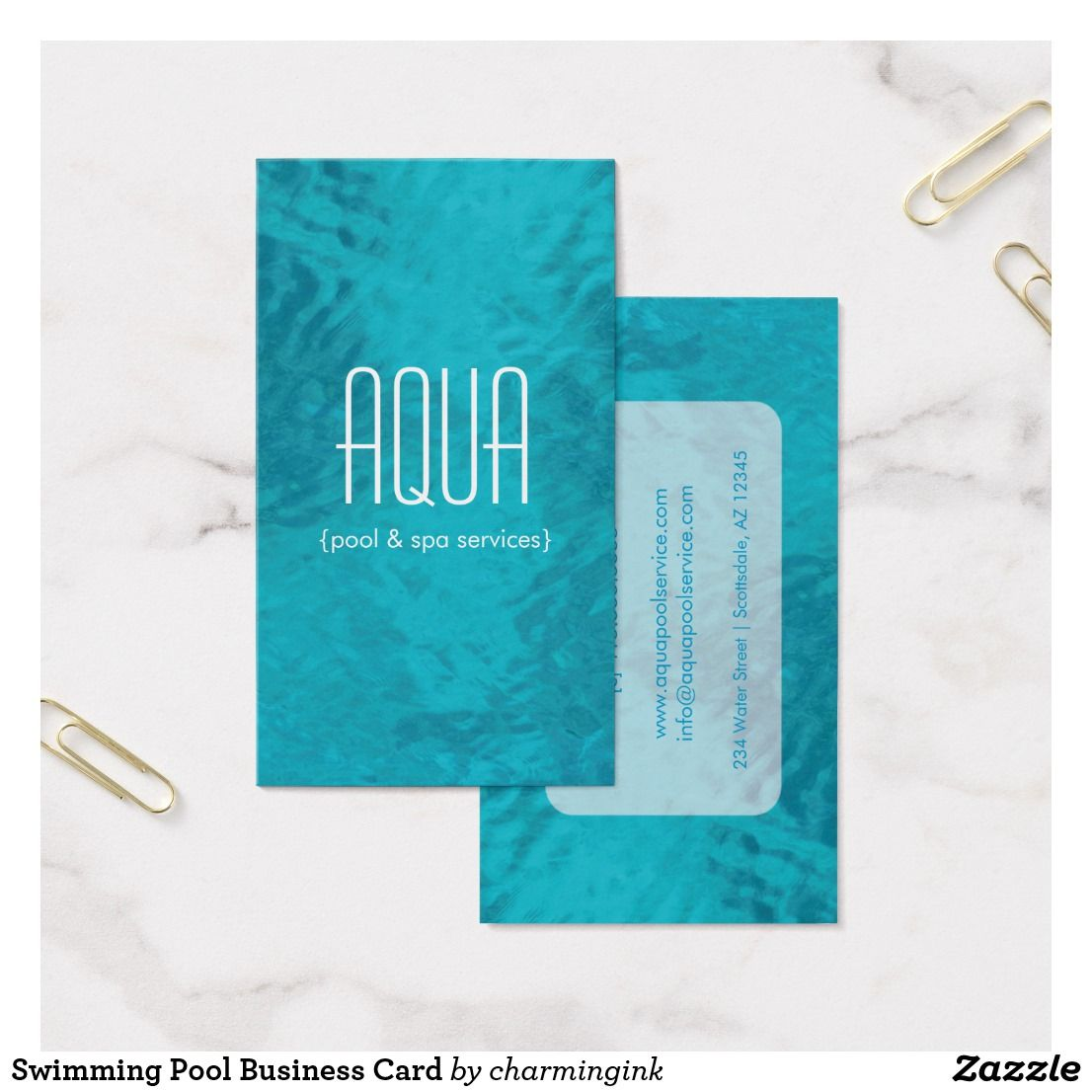 Swimming Pool Business Card Business Pinterest Business Cards