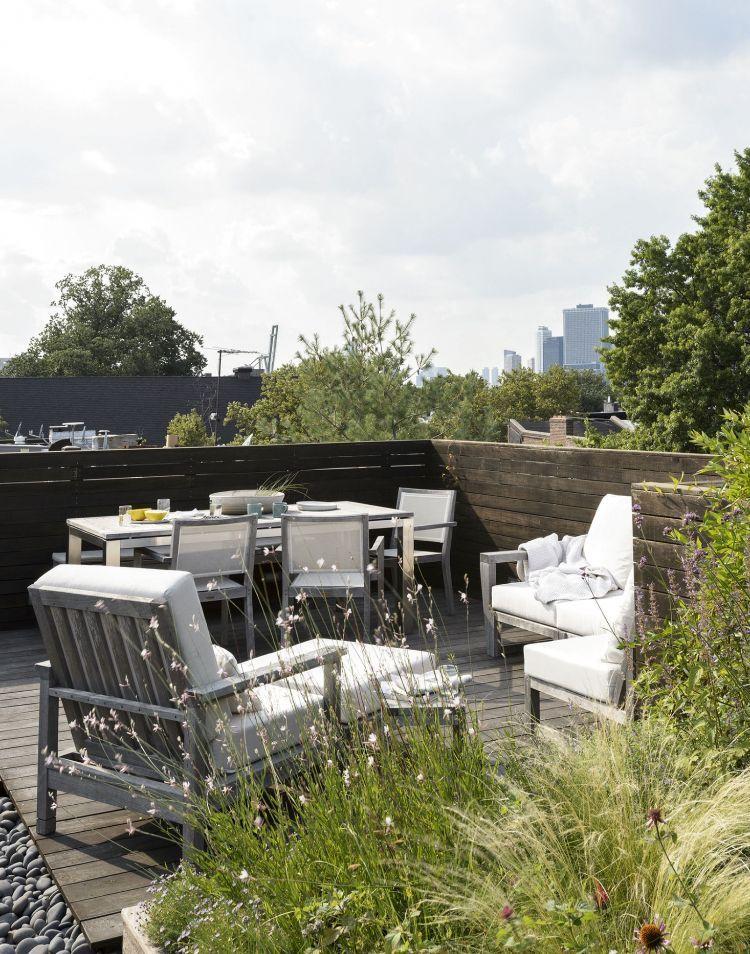 Dachterrasse begrünen und gestalten \u2013 Praktischer Bepflanzungsplan