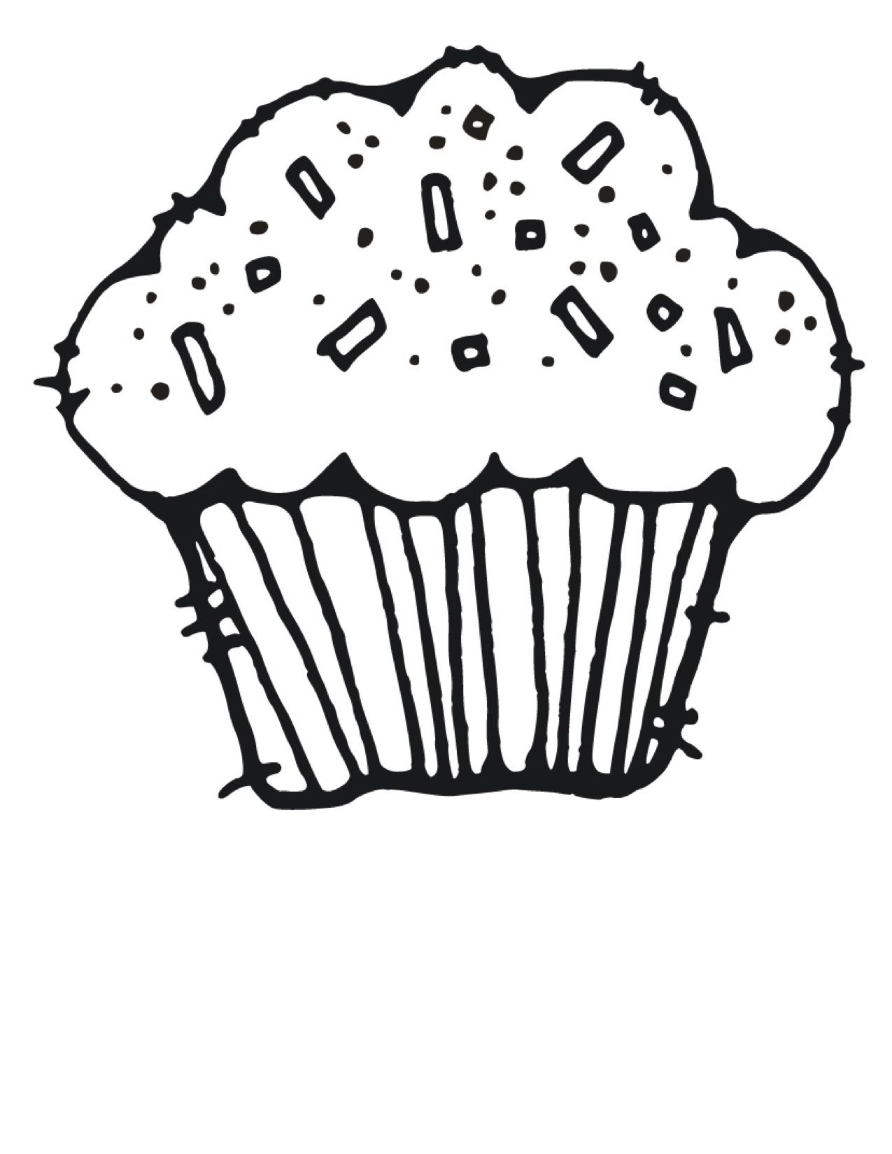 Cupcake Birthday Party Cupcake Coloring Pages Coloring Pages