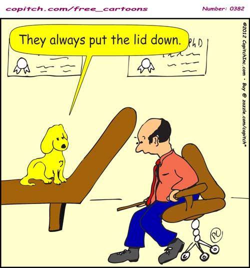 382 Copitch Cartoon Dog Psychology Psychotherapy Psychiatry