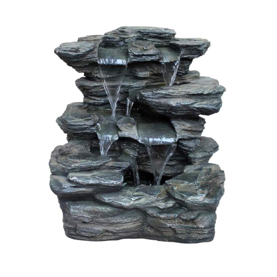 Slate Rock Fountain At Lowes Com Rock Fountain Outdoor Kitchen