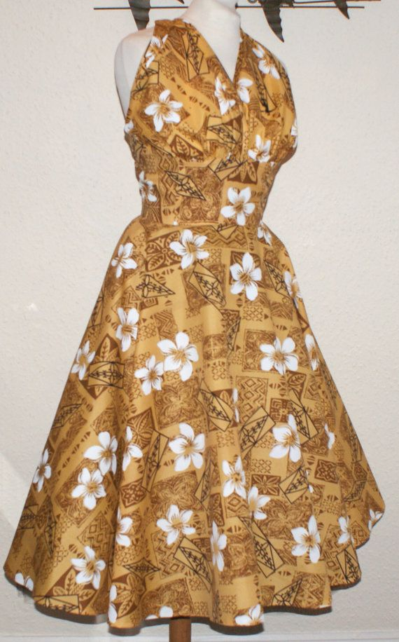 Vintage 1950s inspired repro full circle Hawaiian by OuterLimitz, £75.00