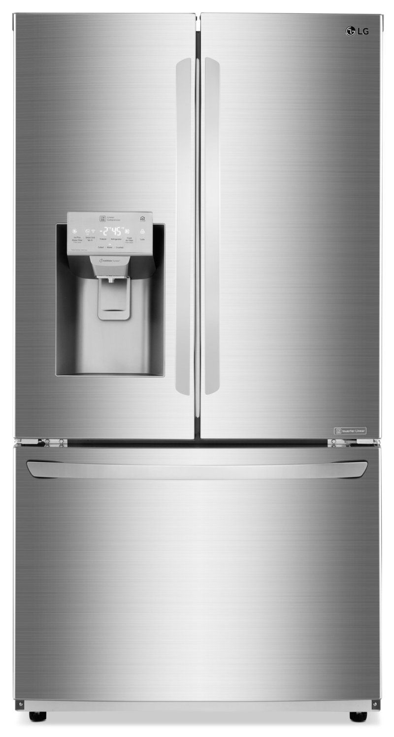 Lg cu ft door frenchdoor refrigerator u lfxss in
