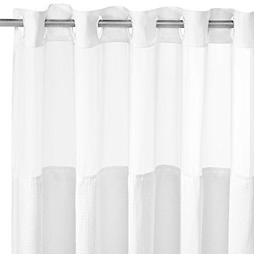 On Hookless Shower Curtain Hookless Polyester 70 X 74 Inch Shower
