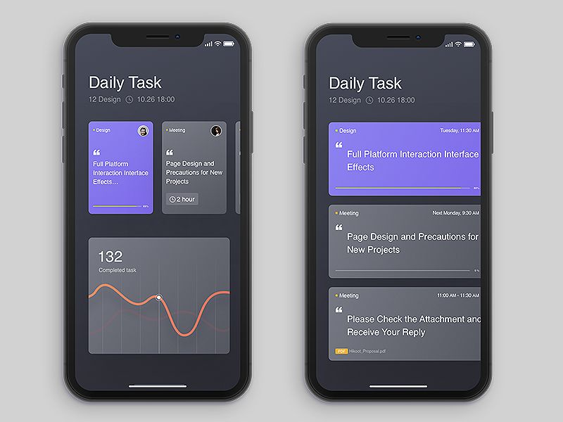 Work Arrangement App Design Inspiration Schedule Design Mobile
