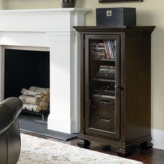 Charmant Storage For DVD Player And Cable Box For TV Above Fireplace