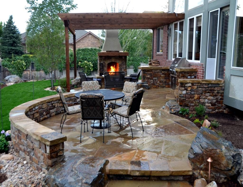 Patio Ideas For Small Gardens Houzz Houzz Backyards 12 Simple Small Garden Designs Houzz Ba Outdoor Stone Fireplaces Stone Patio Designs Flagstone Patio Design