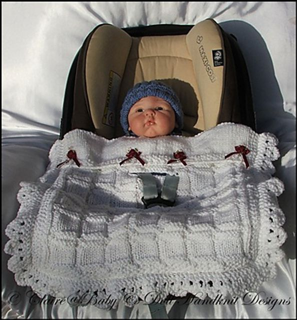 Ravelry: Car Seat Blanket by Claire Topping | Baby car ...