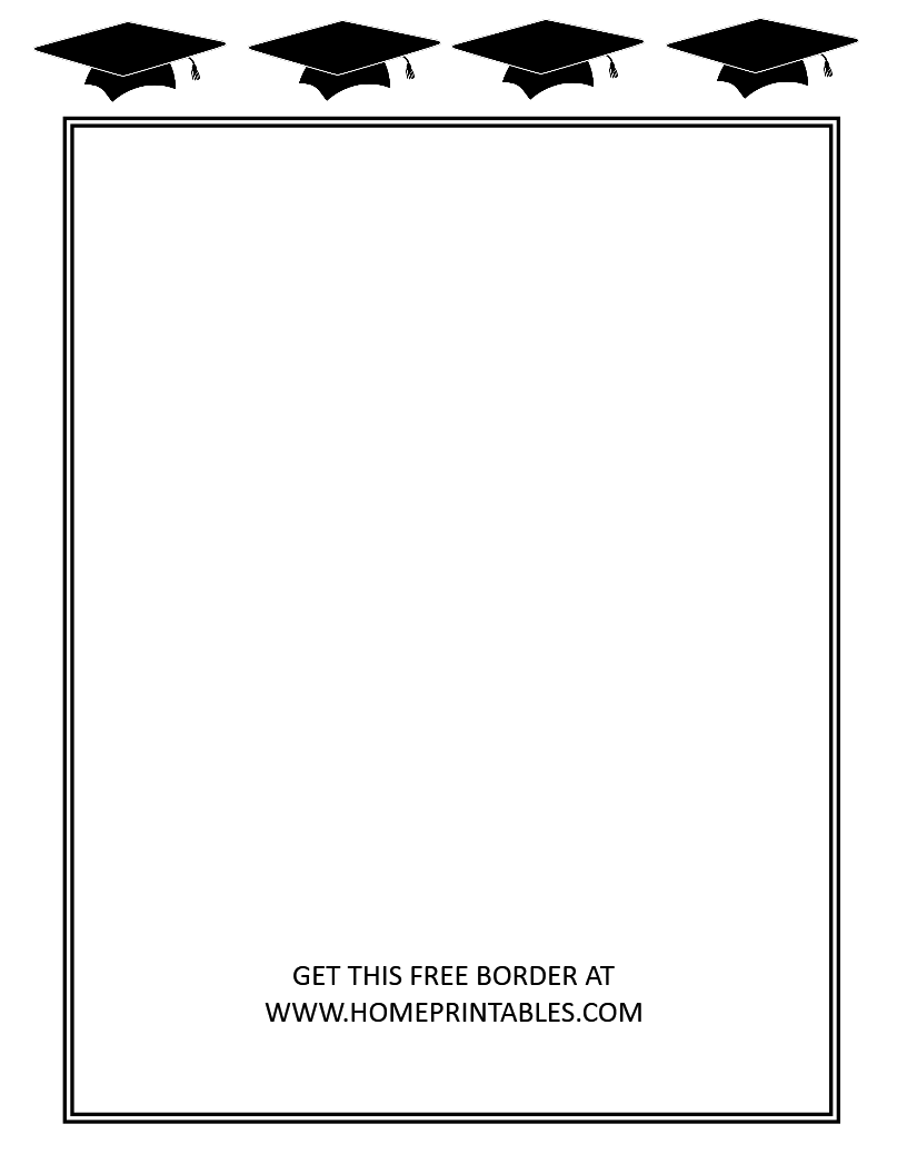 15 Free Graduation Borders With 5 New Designs Home Printables Free Graduation Printables Graduation Printables Free Printable Graduation Invitations