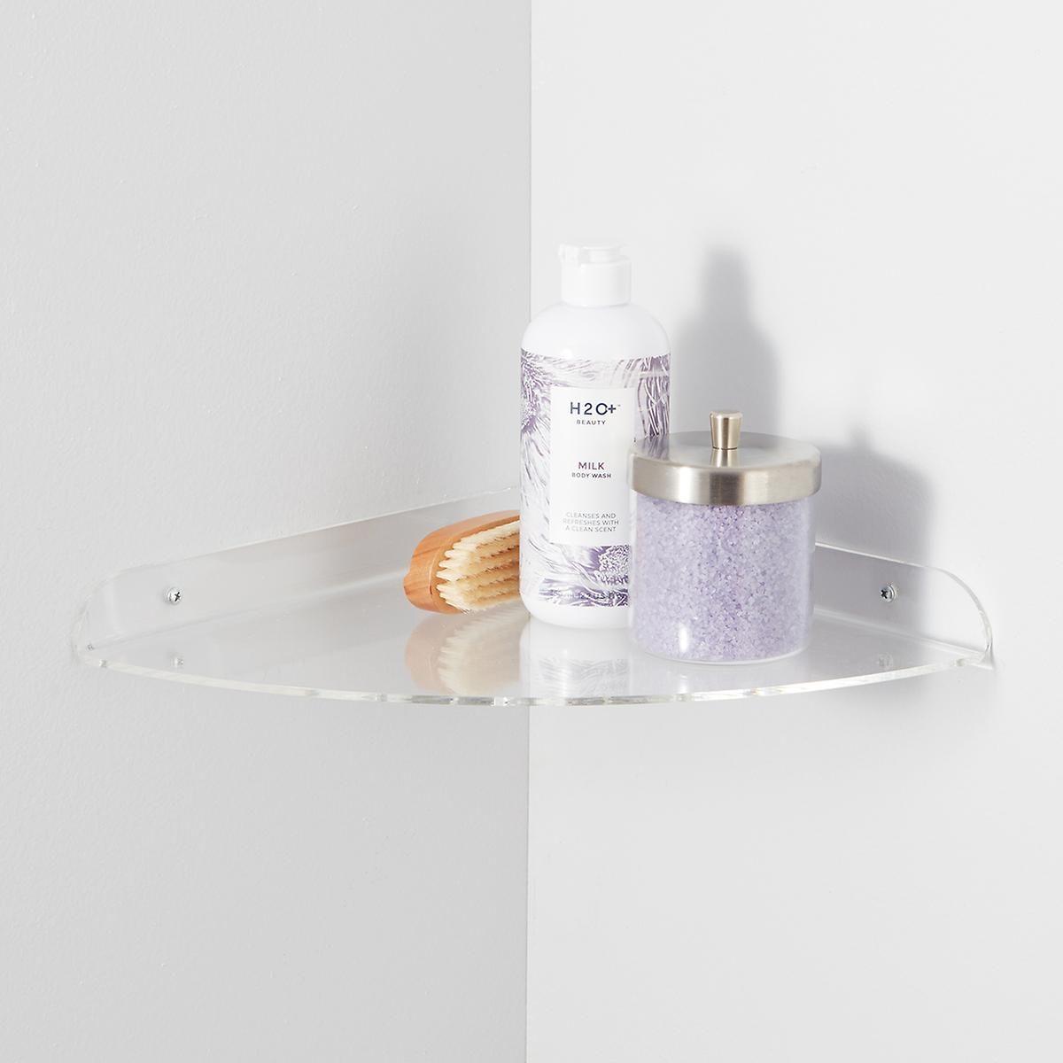 Acrylic Corner Shelf With Images Wall Mounted Shelves Acrylic Wall Shelf Corner Shelves