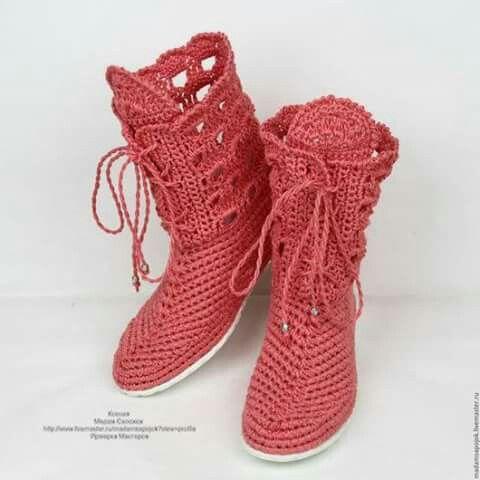Pin von Maryelin Rojas auf zapatilla crochet como hacerla ...