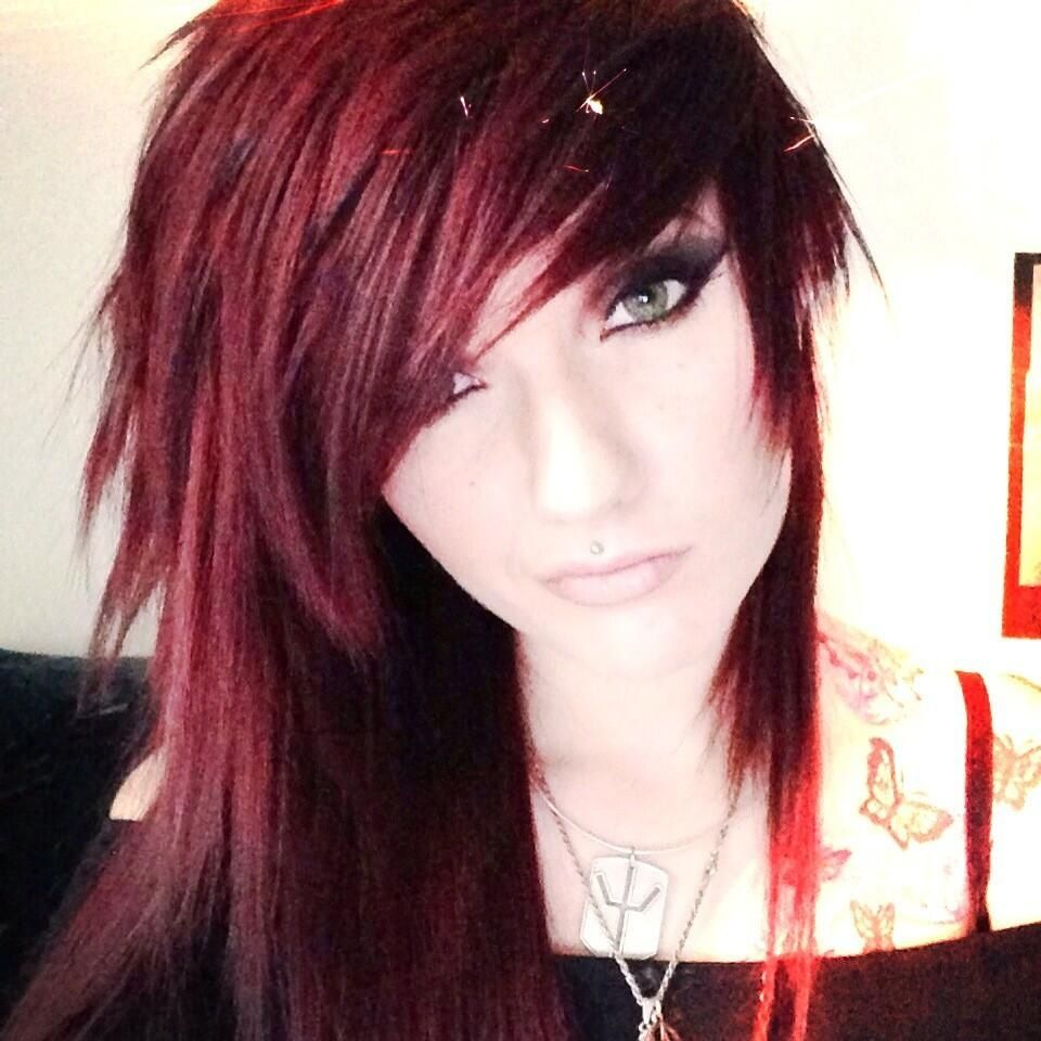Leda muir ledamonsterbunny red dyed scene hair pretty she