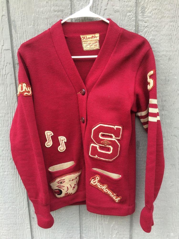 Details About Women S Vtg 1950 S High School Wool Award